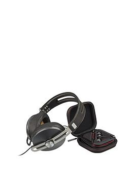 Sennheiser OverEar Momentum 2.0 Headphones (Black) And InEar Momentum Earphones (RedBlack) For Apple Ios