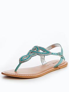 v-by-very-melody-embellished-toepost-sandal-blue