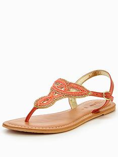 v-by-very-melody-embellished-toepost-sandal-coral