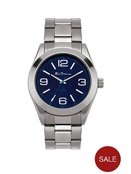 ben-sherman-ben-sherman-mens-blue-dial-silver-strap-watch