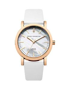 french-connection-french-connection-ladies-mother-of-pearl-and-diamond-dial-silver-strap