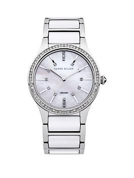 karen-millen-karen-millen-ladies-white-dial-silver-and-white-strap-watch