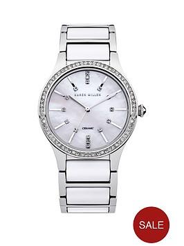 karen-millen-karen-millen-ladies-white-dial-silver-and-white-strap-watch