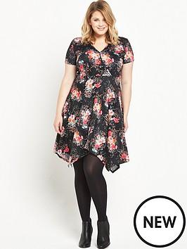 so-fabulous-printed-hanky-hem-jersey-dress
