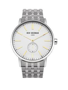 ben-sherman-ben-sherman-mens-white-multi-dial-yellow-detail-silver-strap-watch