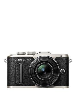 Olympus Olympus Pen EPl8 Camera Black Ed 1442Mm M.Zuiko Ez Pancake Lens Kit