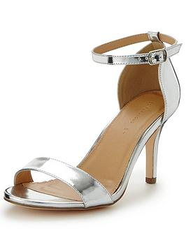 V By Very Gem Extra Wide Fit Heeled Sandal Silver