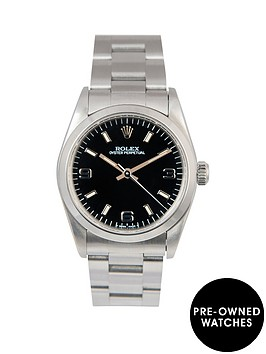 rolex-rolex-midsize-steel-oyster-perpetual-black-3-6-and-9-31mm-dial-stainless-steel-ladies-watch-1991