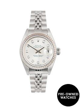 rolex-rolex-datejust-original-new-set-silver-diamond-26mm-dial-stainless-steel-ladies-watch-1997-pre-own
