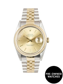 rolex-rolex-bimetal-datejust-champagne-36mm-dial-steel-amp-18k-yellow-gold-men039s-watch-including-paperwork
