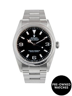 rolex-rolex-explorer-i-black-3-6-amp-9-36mm-dial-stainless-steel-oyster-bracelet-men039s-watch-2002-pre-own