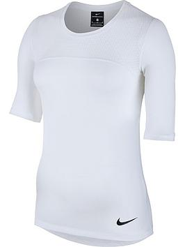 Nike Pro Hypercool Short Sleeved Top  White