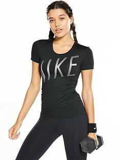 nike-pro-short-sleeved-summer-graphic-top-blacknbsp