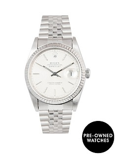 rolex-rolex-datejust-original-silver-tapestry-36mm-dial-stainless-steel-men039s-watch-1989-pre-owned