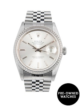 rolex-rolex-datejust-original-silver-baton-36mm-dial-stainless-steel-men039s-watch-1994-pre-owned