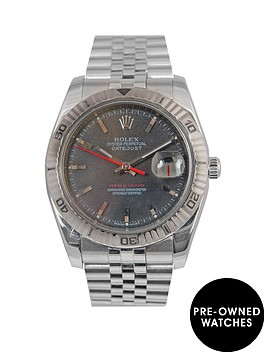 rolex-rolex-datejust-turnograph-charcoal-36mm-dial-stainless-steel-men039s-watch-2008-pre-owned