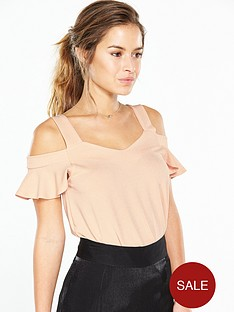 v-by-very-petite-petite-flippy-cold-shoulder-top-nude