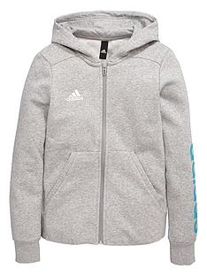 adidas-older-girls-linear-fz-hoody