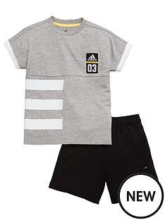 adidas-younger-boys-shorts-set