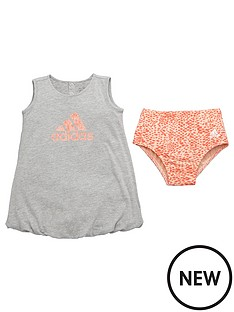 adidas-baby-girls-dress-and-pant-set