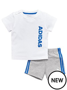 adidas-baby-boys-linear-shorts-set