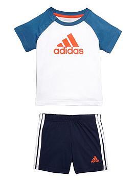 Adidas Baby Boys Logo Shorts Set