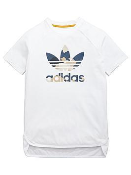 Adidas Originals Adidas Originals Older Boys Camo Trefoil Tee