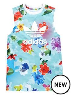 adidas-originals-older-girls-floral-tank