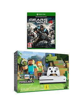 xbox-one-s-500gb-minecraft-favourites-bundle-with-gears-of-war-4-plus-optional-12-months-gold-live-andor-an-extra-controller