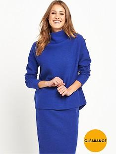 selected-femme-darla-knit-pullover--mazarine-blue