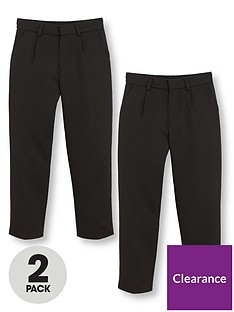 v-by-very-boys-2-pack-classic-woven-school-trousers-black
