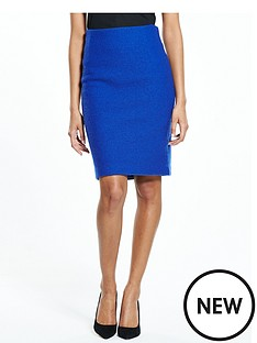 selected-femme-darla-knit-skirt-mazarine-blue