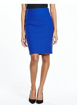 Selected Femme Darla Knit Skirt  Mazarine Blue