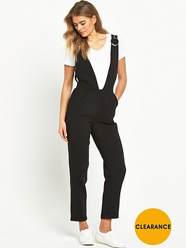 lost-ink-tailored-low-cut-v-neck-jumpsuit-black