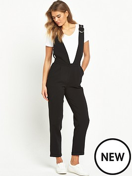 lost-ink-tailored-low-cut-v-neck-jumpsuit-black