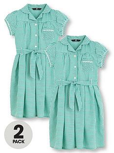 v-by-very-2-pack-girls-traditional-summer-gingham-school-dresses-green