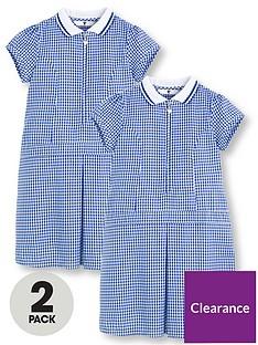 v-by-very-2-pack-girls-rib-collar-summer-gingham-school-dresses-blue