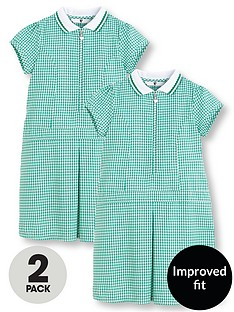 v-by-very-schoolwear-girls-pk2-rib-collar-gingham-dress