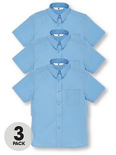 v-by-very-schoolwearnbspgirls-short-sleeve-school-blouses-blue-3-pack