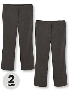 v-by-very-girls-2-pack-plus-fit-woven-school-trousers-grey