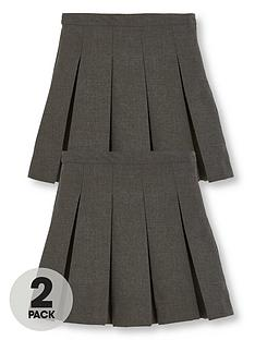 v-by-very-schoolwear-girls-classic-pleated-plus-fit-school-skirts-grey-2-pack