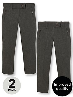 v-by-very-schoolwear-girls-pk2-skinny-trousers