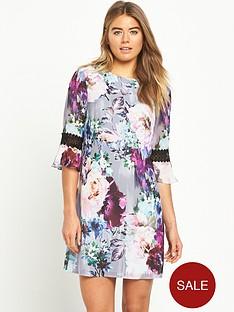 little-mistress-floral-shift-dress-with-crochet-trim-sleeves