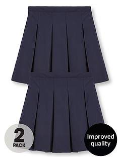 v-by-very-girls-2-pack-classic-pleated-woven-school-skirts
