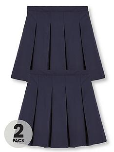 v-by-very-schoolwearnbspgirls-classic-pleated-plus-fit-school-skirts-navy-2-pack