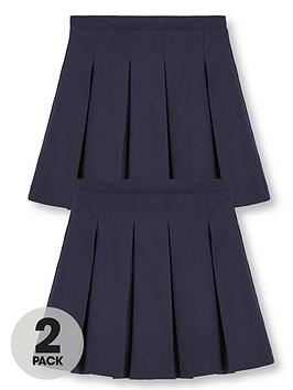 V by Very V By Very Girls 2 Pack Classic Pleated Woven Plus Fit School  ... Picture