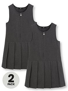 v-by-very-schoolwearnbspgirls-pleated-pinafore-school-dresses-grey-2-pack