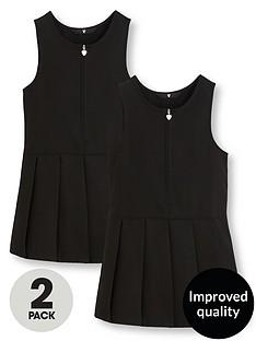 v-by-very-schoolwearnbspgirls-pleated-pinafore-school-dresses-black-2-pack