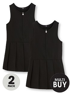 v-by-very-schoolwearnbspgirls-pleated-pinafore-school-dresses-black-2-pack