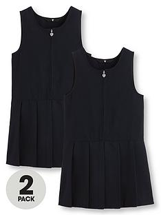v-by-very-girls-2-pack-pleated-pinafore-school-dresses-navy